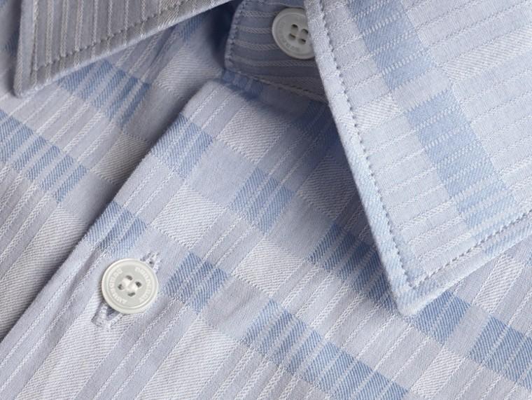 Bleu dragée Chemise en coton tissé en jacquard à motif check Bleu Dragée - cell image 1