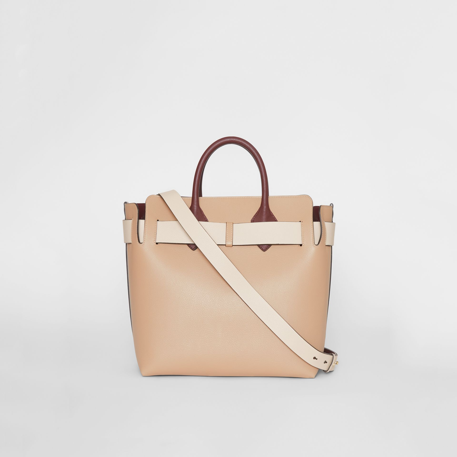 The Medium Tri-tone Leather Belt Bag in Limestone/pale Drift - Women | Burberry Canada - gallery image 7