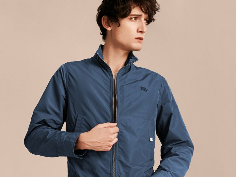 Steel blue Lightweight Technical Jacket Steel Blue - cell image 4