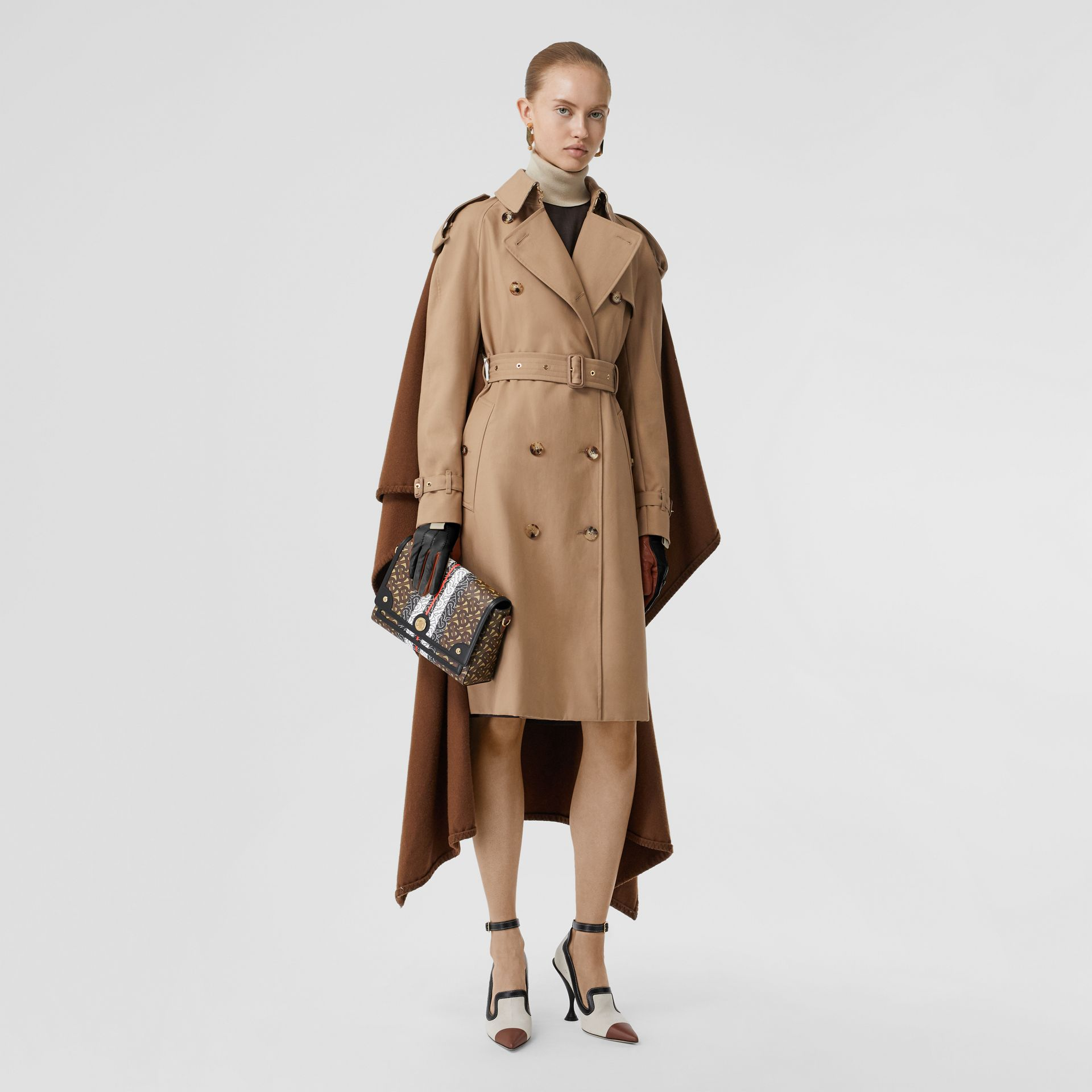 Monogram Stripe E-canvas Note Crossbody Bag in Bridle Brown - Women | Burberry - gallery image 5