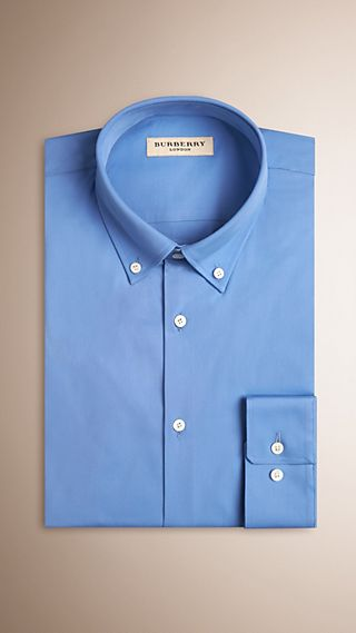 Modern Fit Button-down Collar Stretch Cotton Shirt