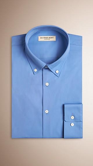 Modern Fit Button-down Collar Stretch Cotton Shirt