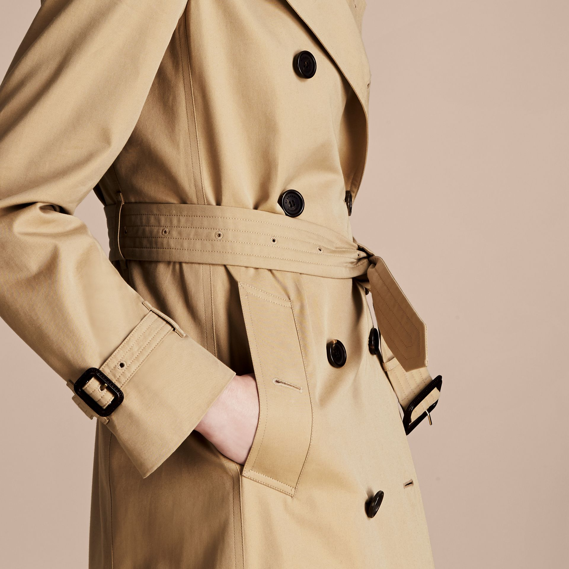Honey The Westminster – Long Heritage Trench Coat Honey - gallery image 6