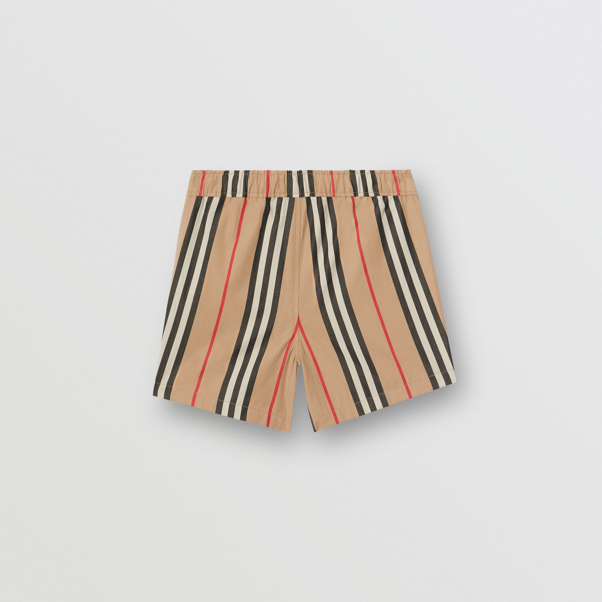 Icon Stripe Cotton Poplin Shorts in Archive Beige - Children | Burberry Singapore - gallery image 3