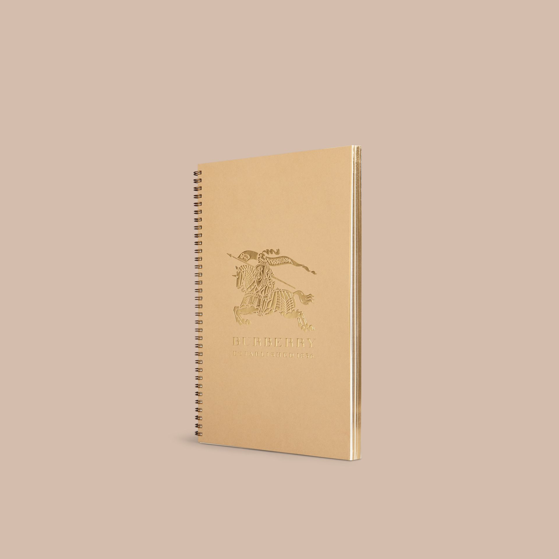 A4 Notebook Refill in Honey | Burberry Singapore - gallery image 1