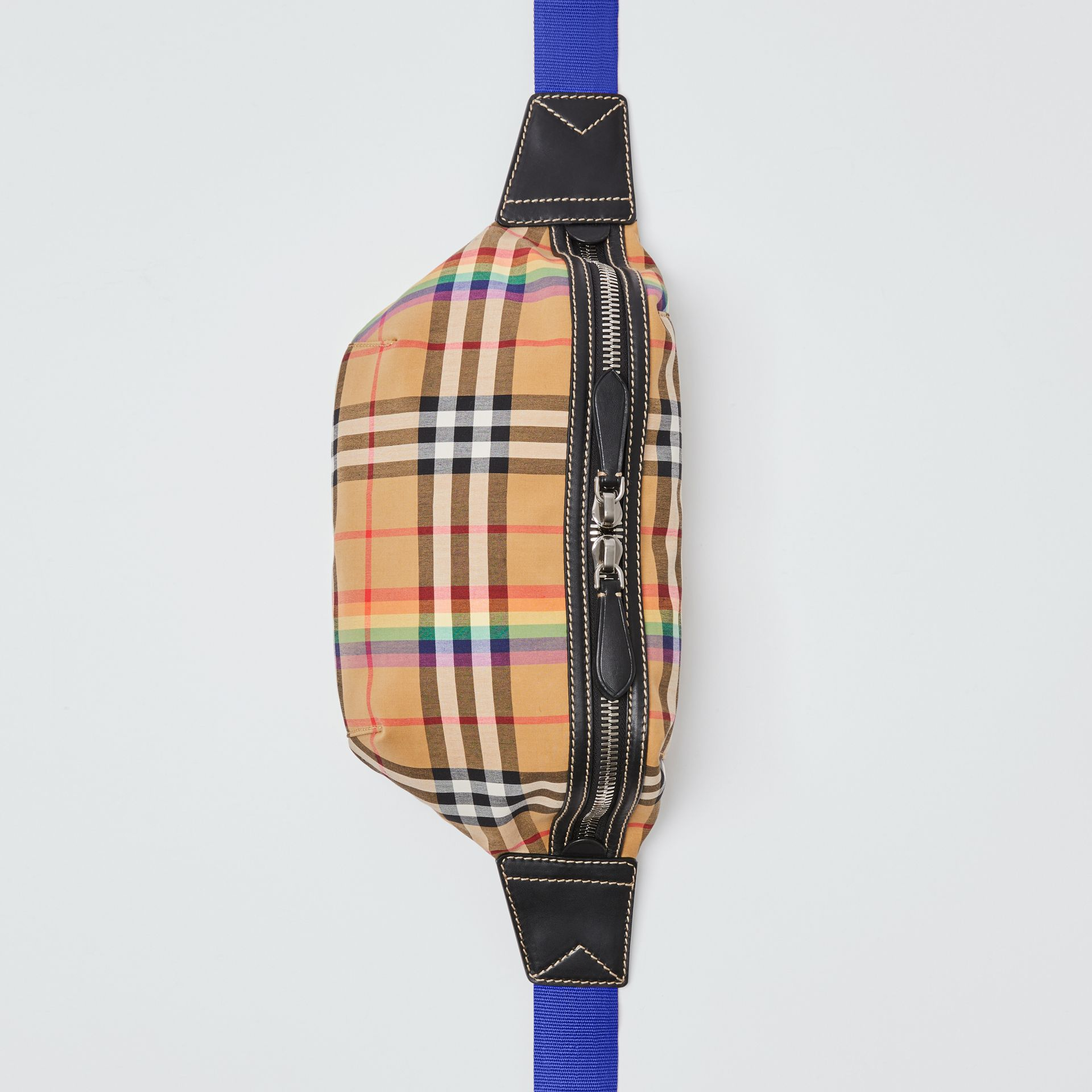 Medium Rainbow Vintage Check Bum Bag in Antique Yellow | Burberry - gallery image 1