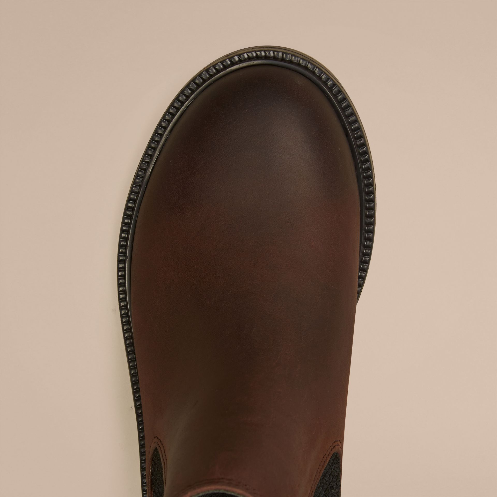Bitter chocolate Leather Chelsea Boots - gallery image 3