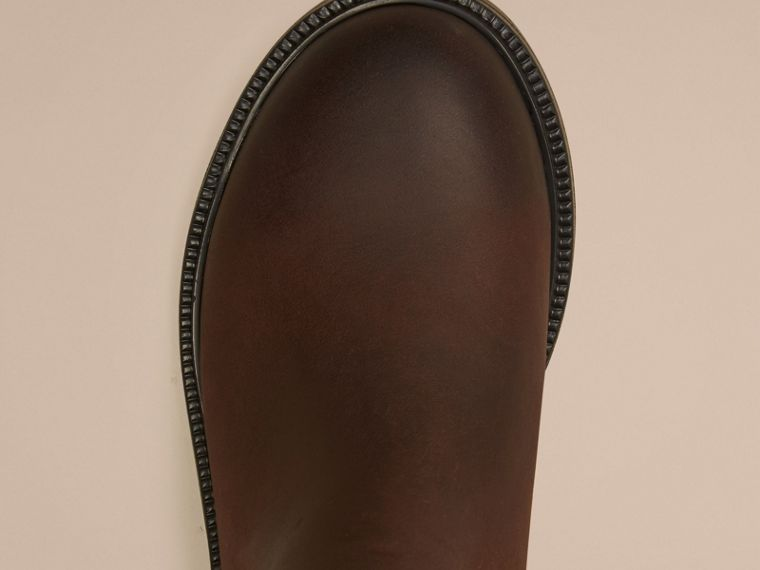 Bitter chocolate Leather Chelsea Boots - cell image 2