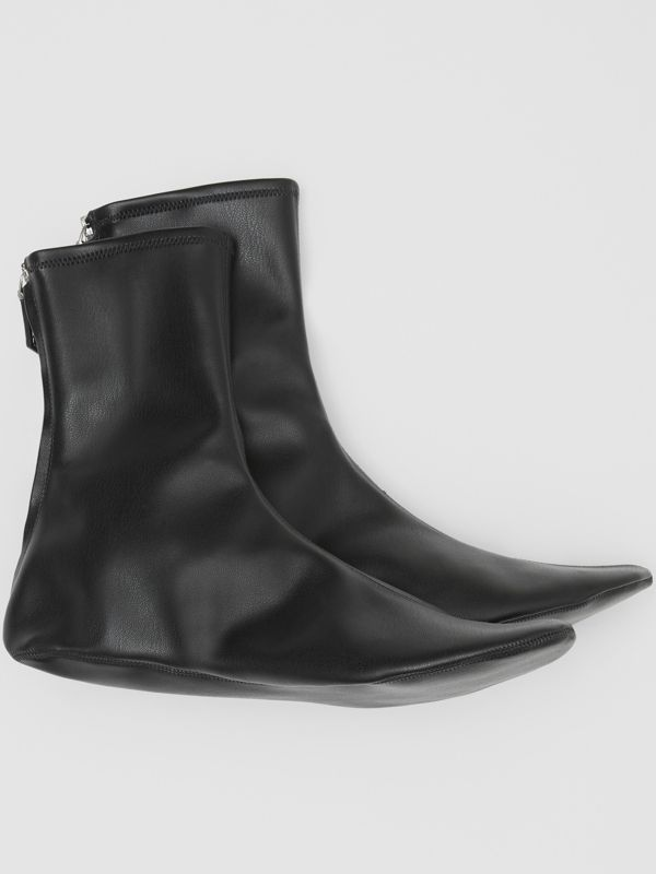 Faux Leather Ankle Socks in Black - Women | Burberry - cell image 2