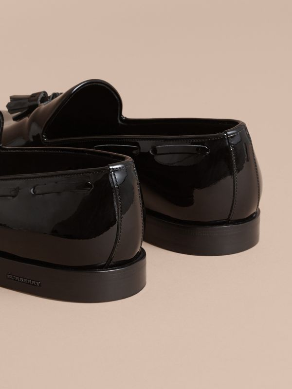 Tasselled Patent Leather Loafers in Black - Men | Burberry - cell image 3