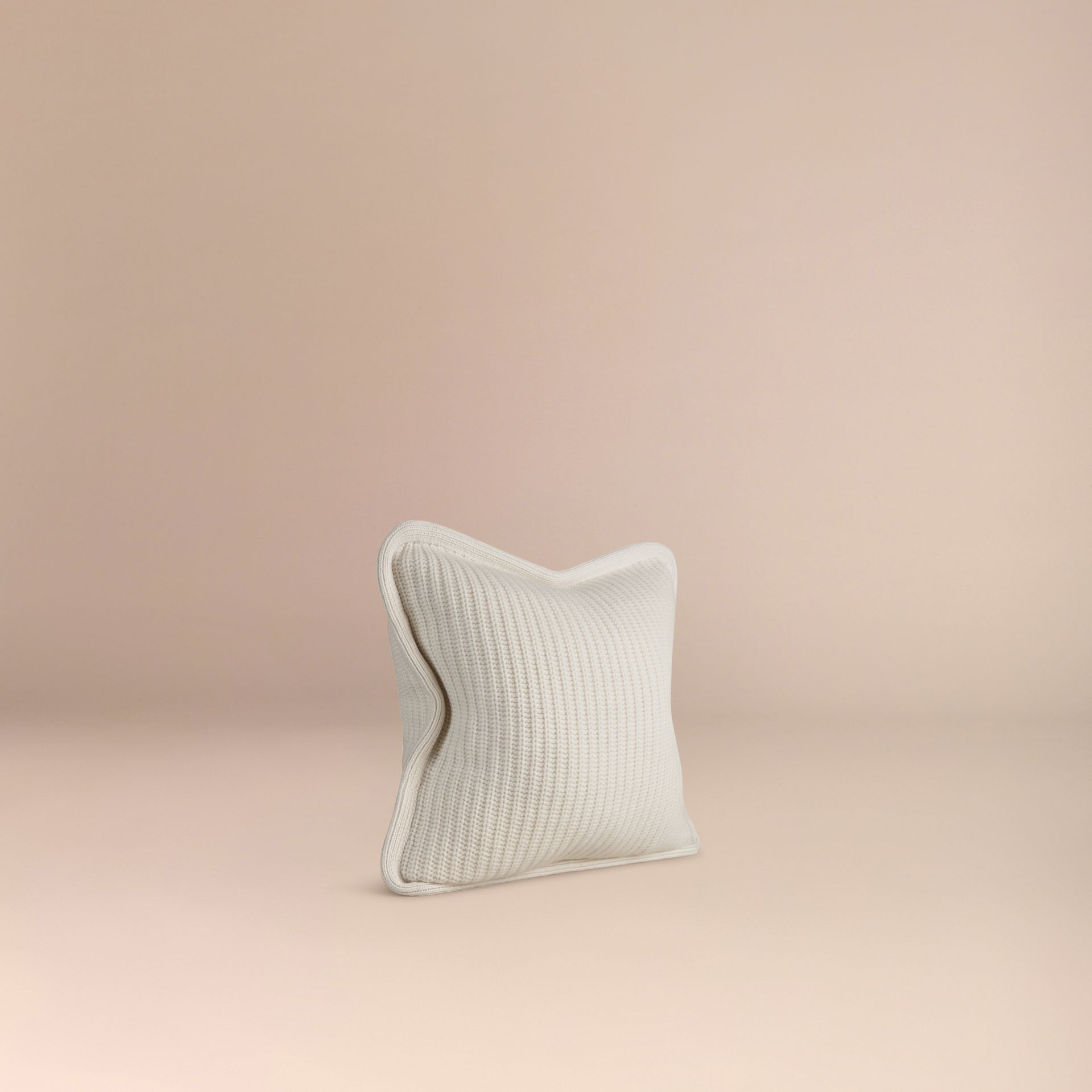 Natural white Knitted Cashmere Cushion Cover Natural White - gallery image 3