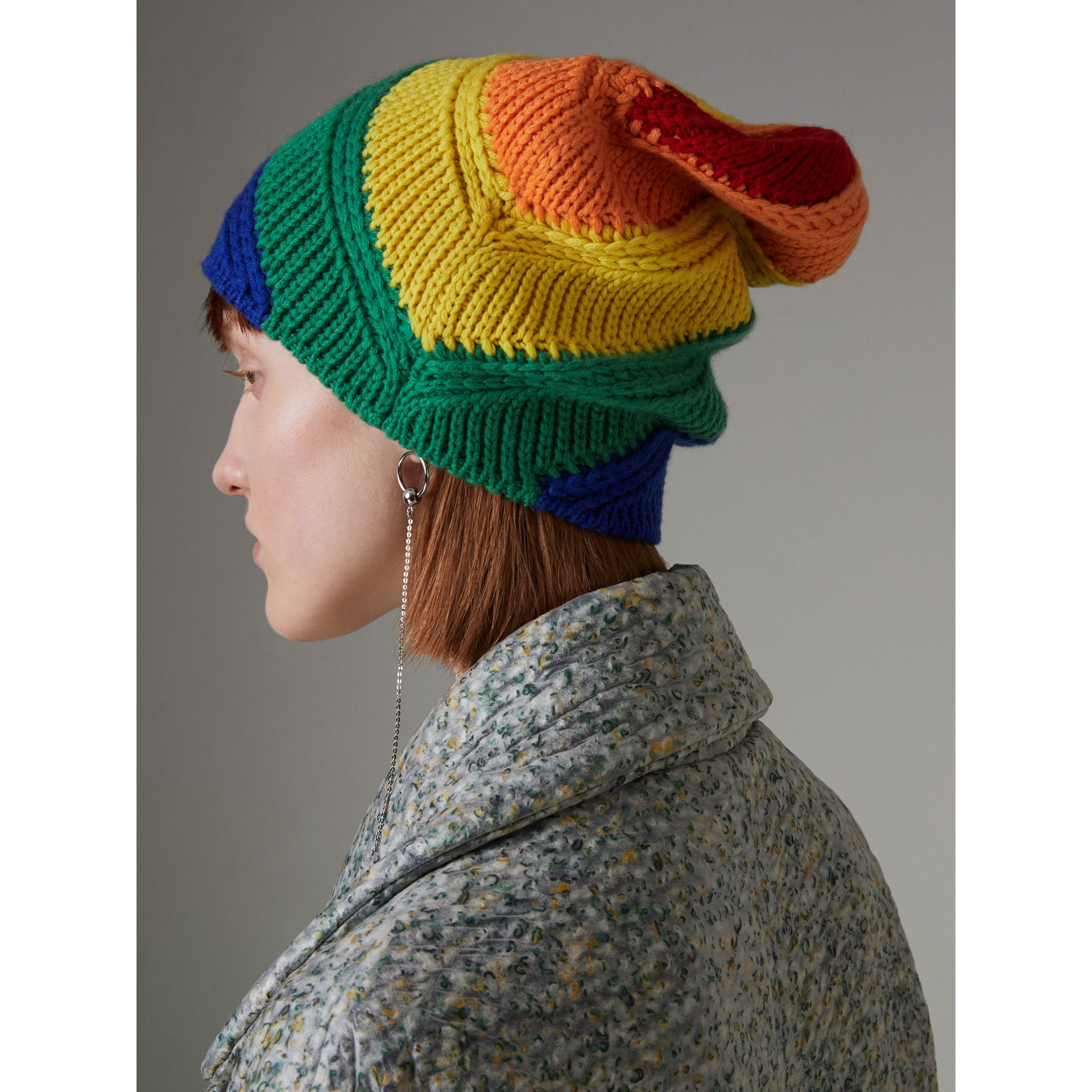 Rainbow Wool Cashmere Beanie | Burberry United Kingdom - gallery image 4
