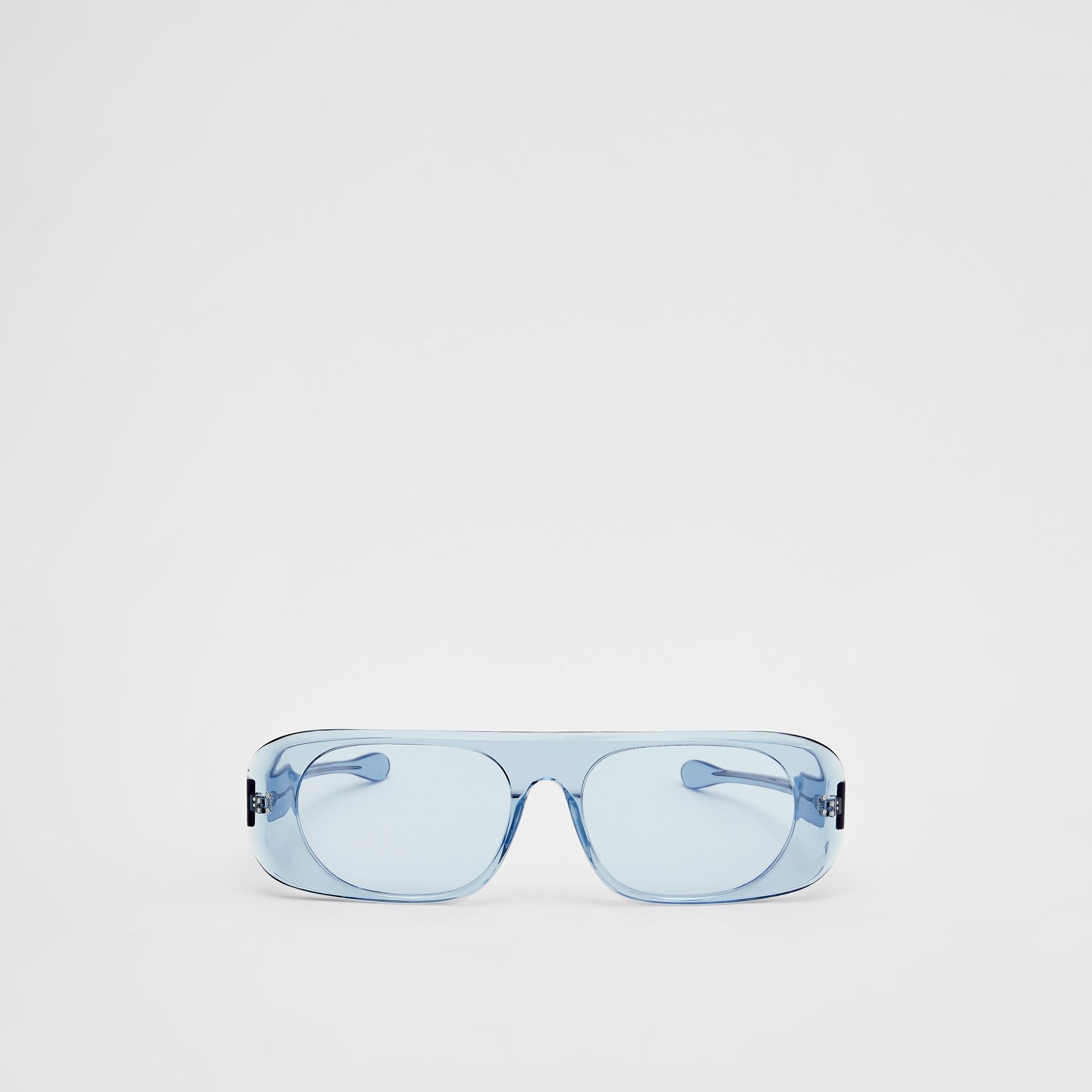 Blake Sunglasses in Transparent Blue | Burberry - gallery image 0