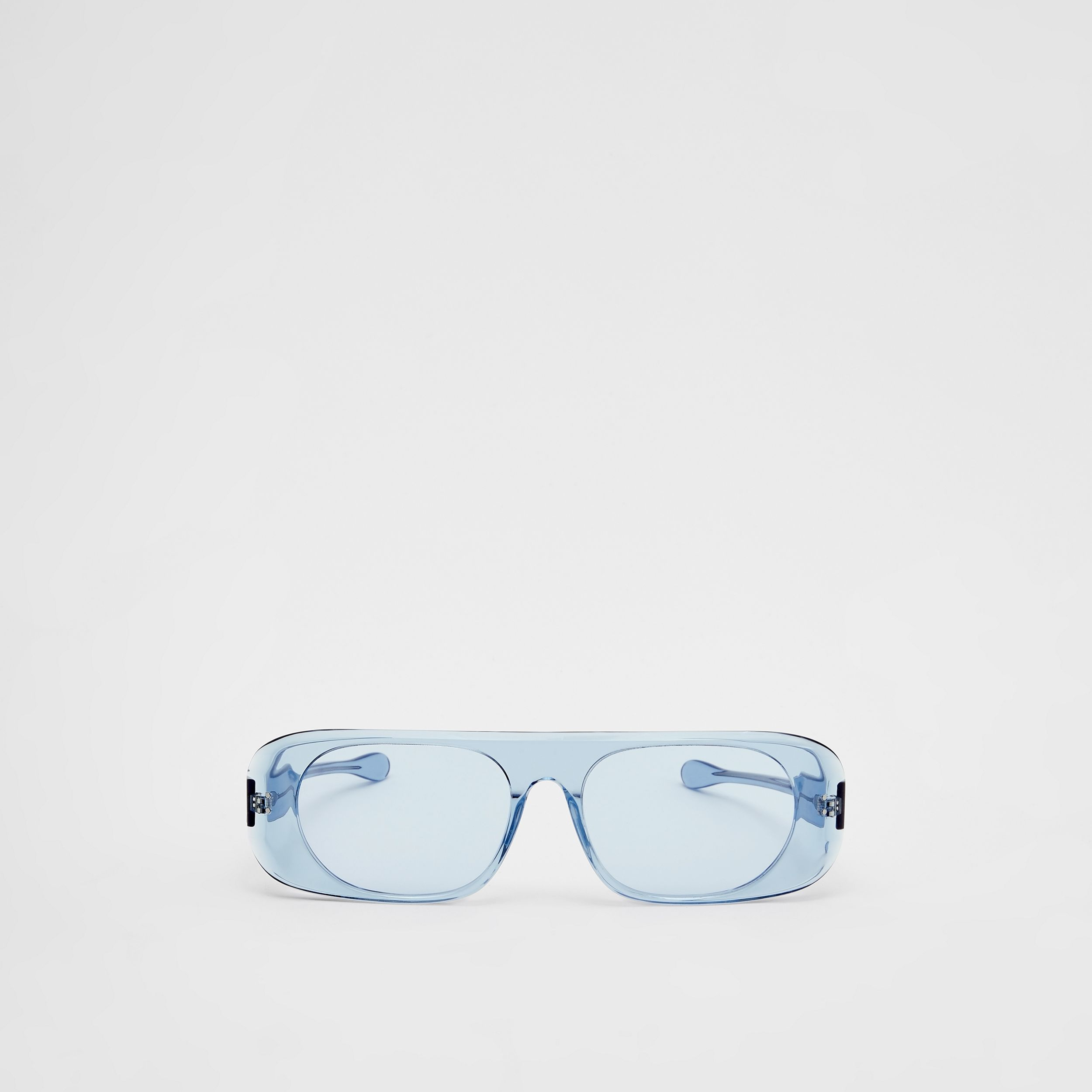 Blake Sunglasses in Transparent Blue | Burberry - 1