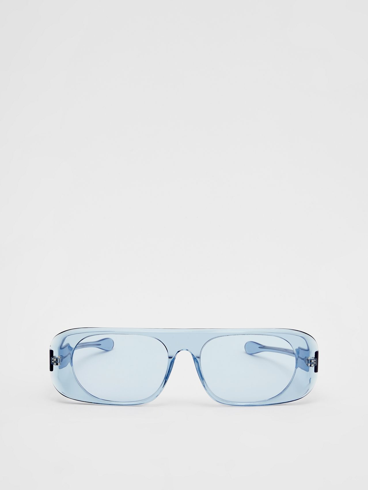 Blake Sunglasses in Transparent Blue