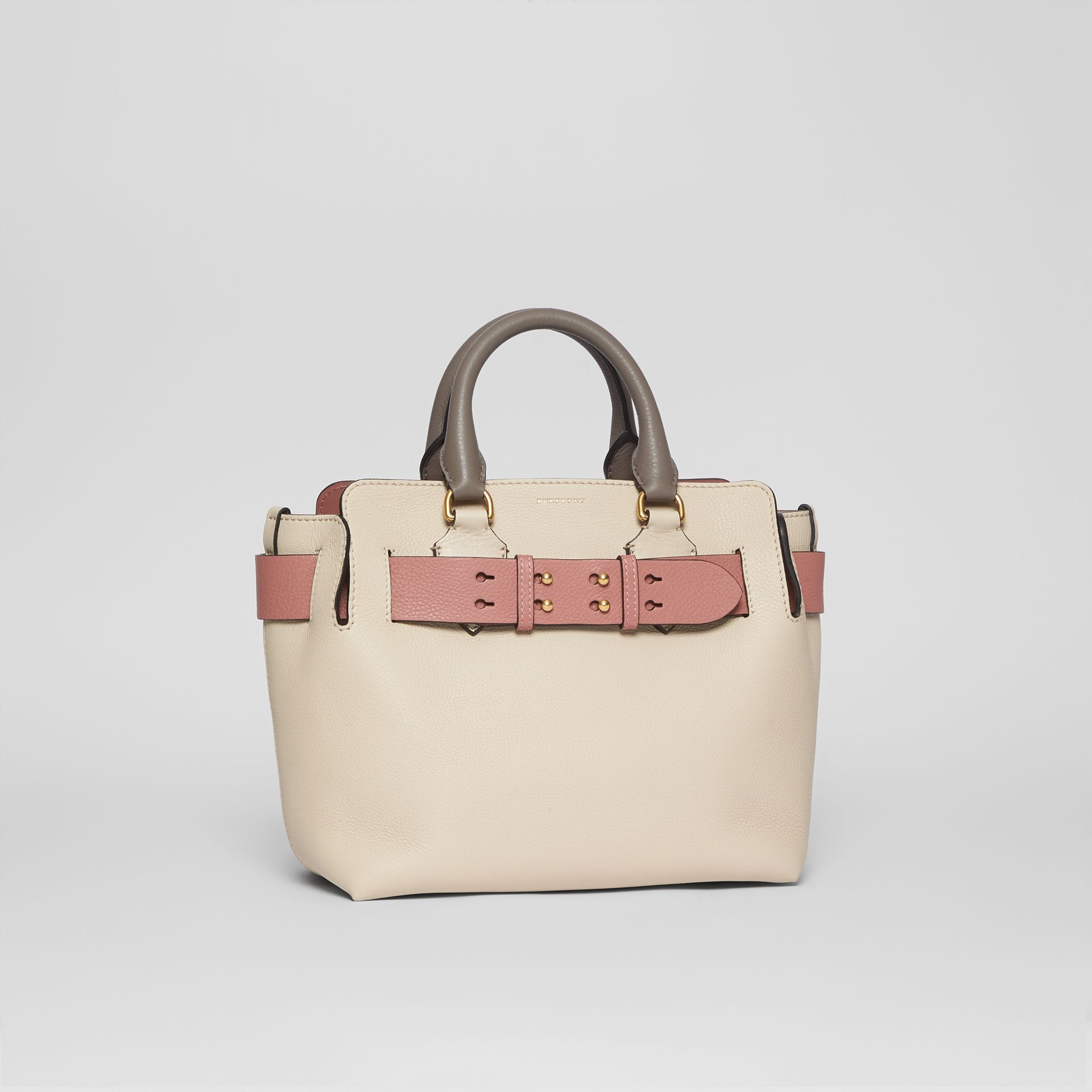 The Small Tri-tone Leather Belt Bag in Limestone/dusty Rose - Women | Burberry Australia - gallery image 6