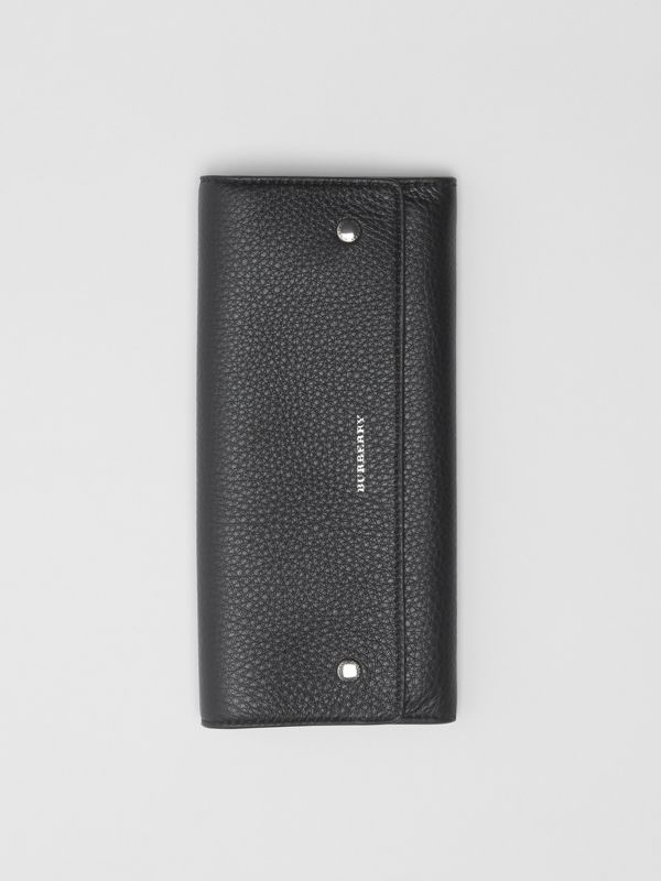 Leather Continental Wallet in Black - Women | Burberry Australia - cell image 3