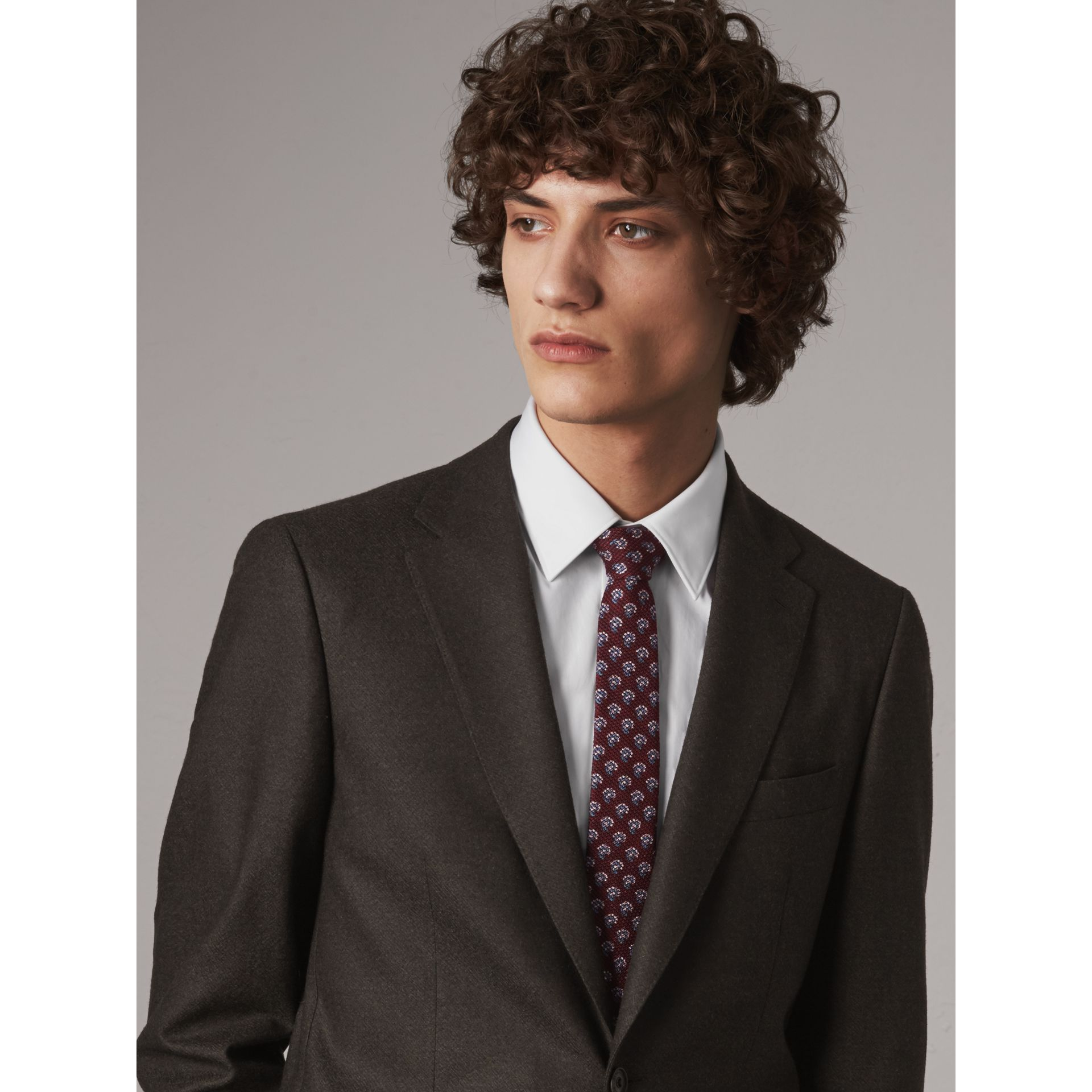 Slim Cut Paisley Silk Tie in Parade Red - Men | Burberry - gallery image 2