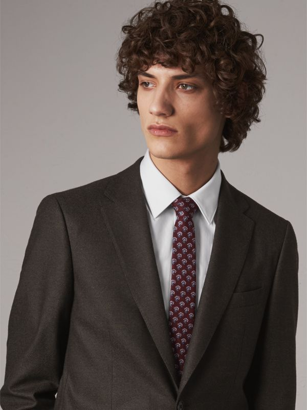 Slim Cut Paisley Silk Tie in Parade Red - Men | Burberry United Kingdom - cell image 2