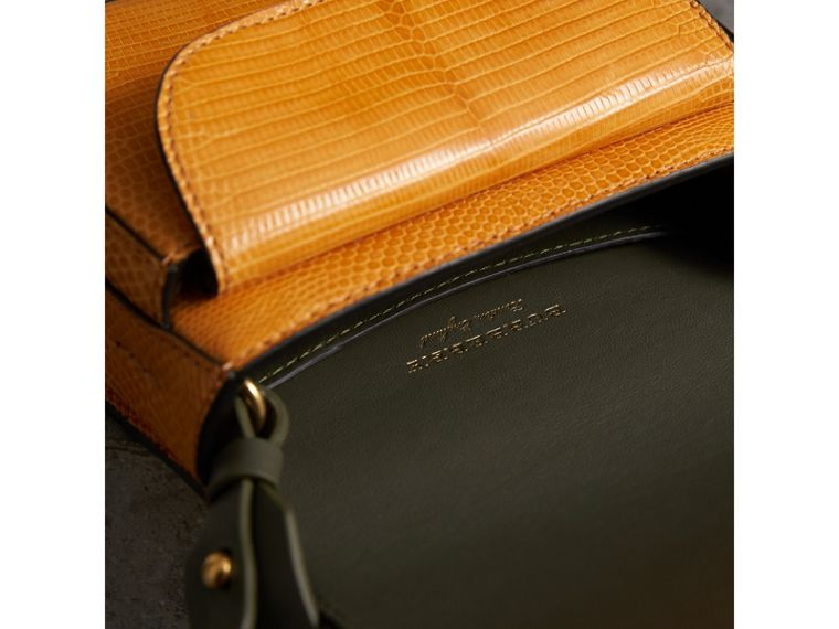 The Satchel in Lizard in Amber Yellow - Women | Burberry Australia - cell image 4