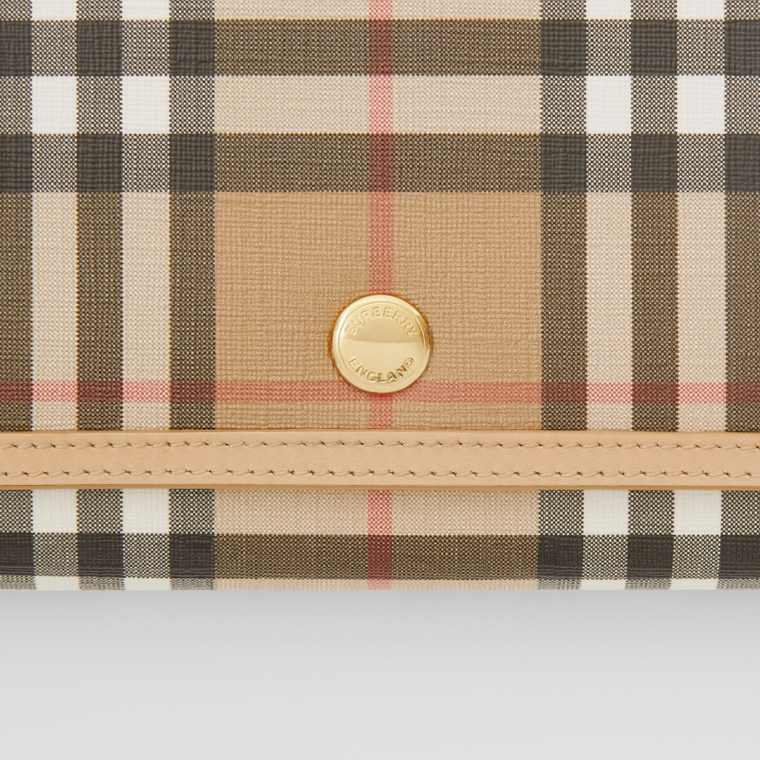 Vintage Check E-canvas Wallet with Detachable Strap in Beige - Women | Burberry United Kingdom - 2