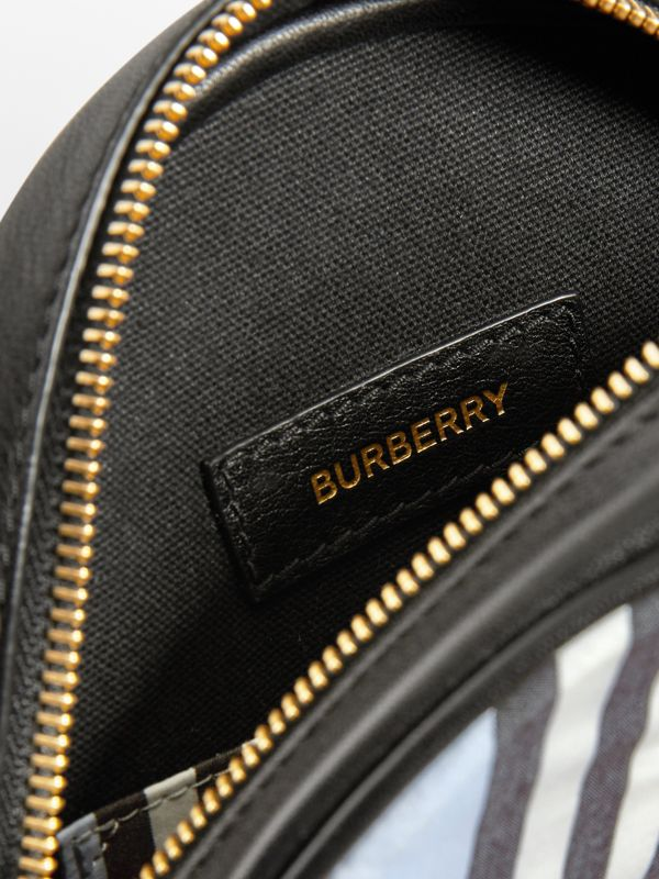 Icon Stripe Nylon Crossbody Bag in Pale Blue - Children | Burberry United States - cell image 3