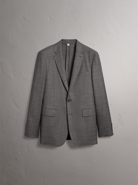 Soho Fit Houndstooth Check Wool Suit in Dark Grey Melange - Men | Burberry United Kingdom - cell image 3