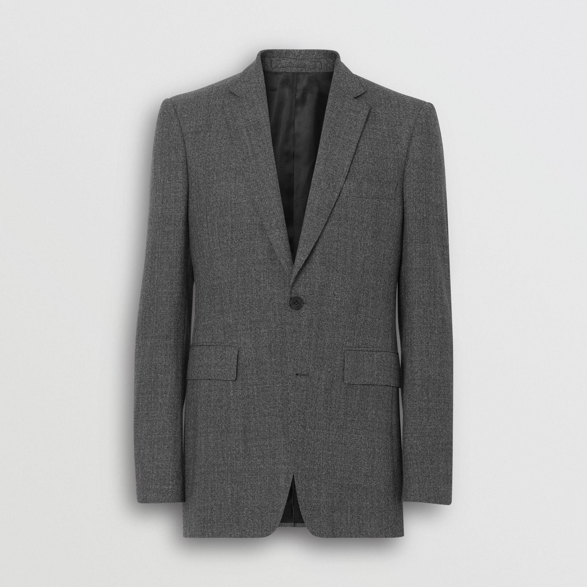 Classic Fit Melange Wool Three-piece Suit in Charcoal - Men | Burberry - gallery image 3