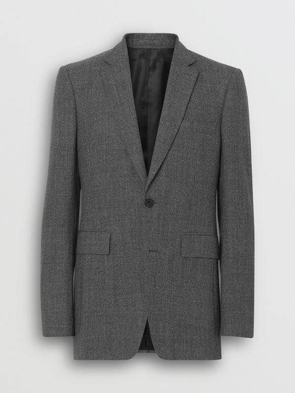 Classic Fit Melange Wool Three-piece Suit in Charcoal - Men | Burberry - cell image 3
