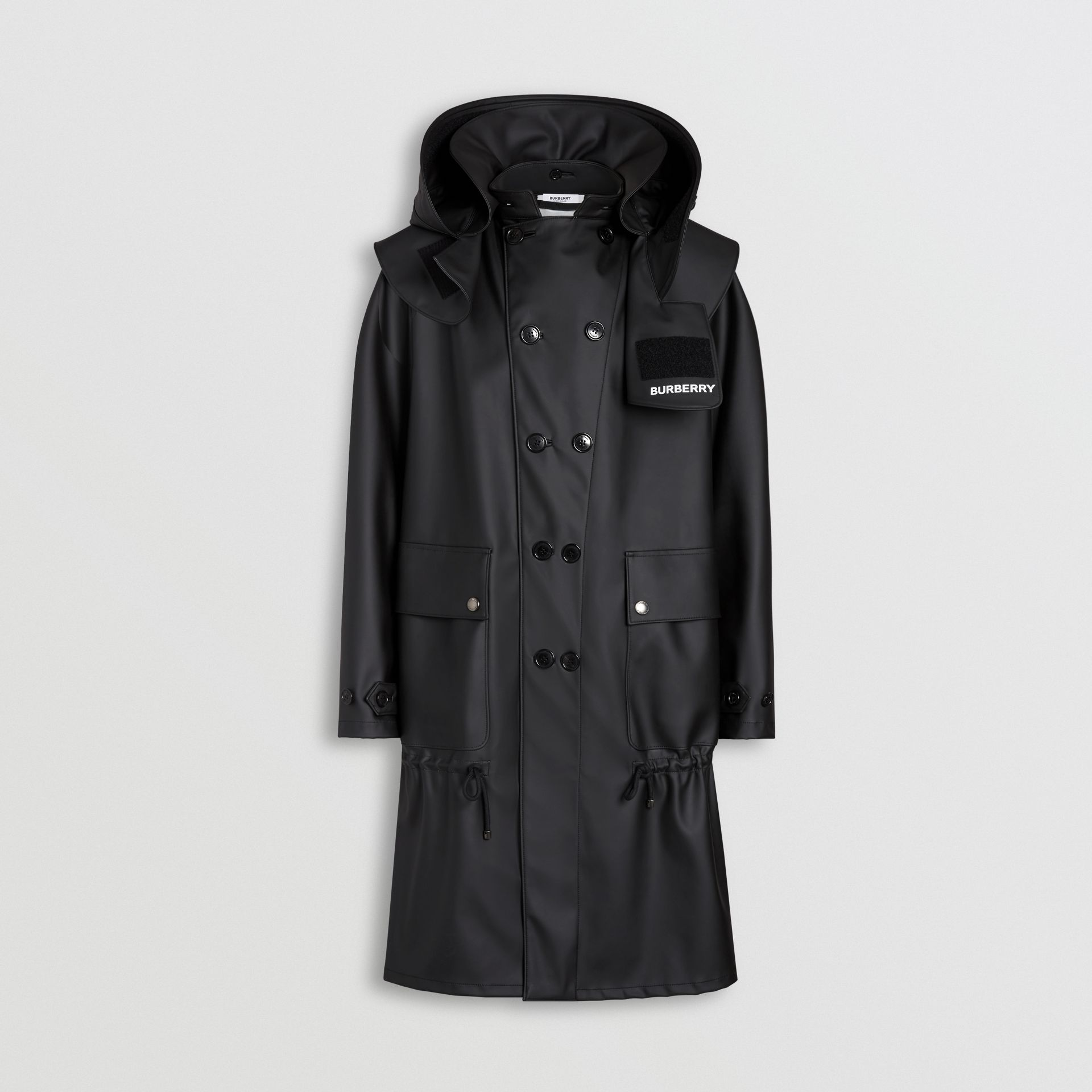 Structured Hood Scuba Parka in Black - Men | Burberry Australia - gallery image 4