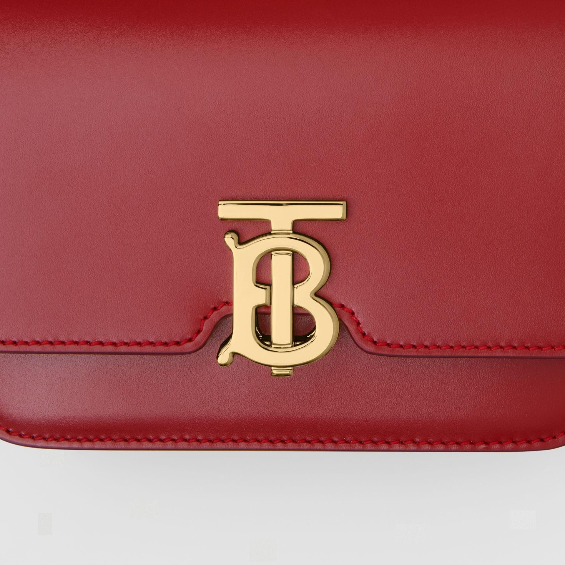 Mini Leather TB Bag in Dark Carmine - Women | Burberry - gallery image 1