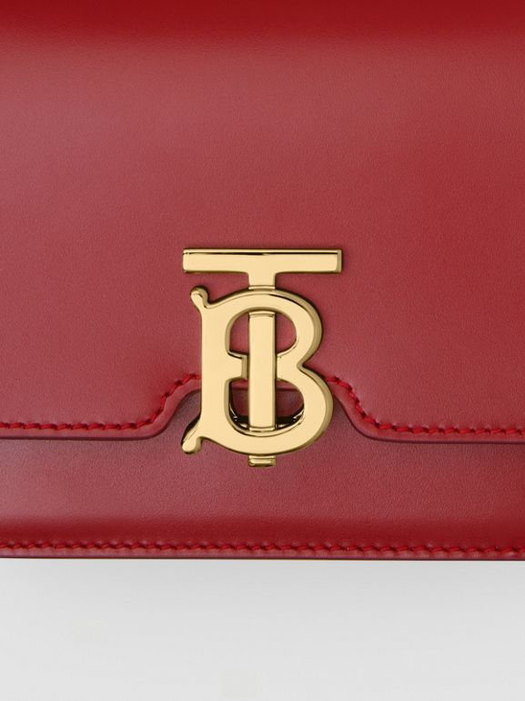 Mini Leather TB Bag in Dark Carmine - Women | Burberry - cell image 1