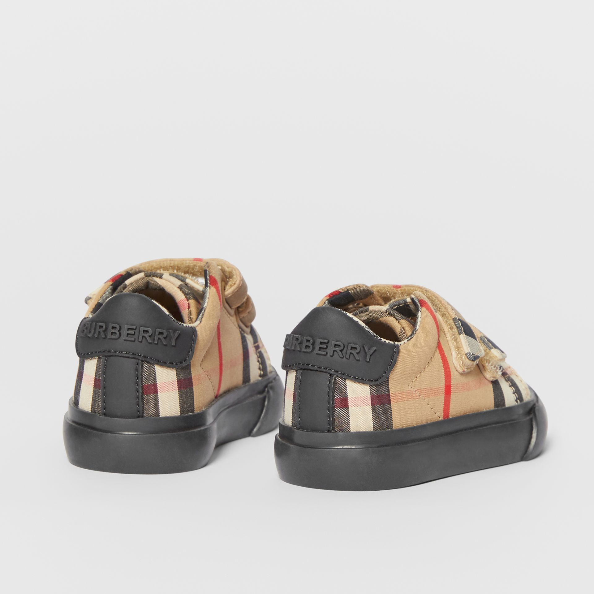 Vintage Check Cotton Sneakers in Archive Beige/black - Children | Burberry United Kingdom - gallery image 2