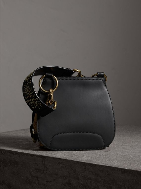 The Bridle Bag in Fruit and Flowers Riveted Leather in Black - Women | Burberry - cell image 3