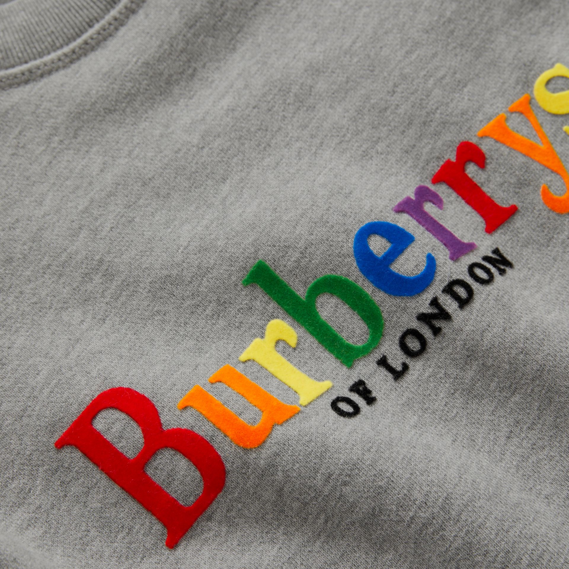 Archive Logo Cotton Dress in Grey Melange - Children | Burberry Canada - gallery image 1