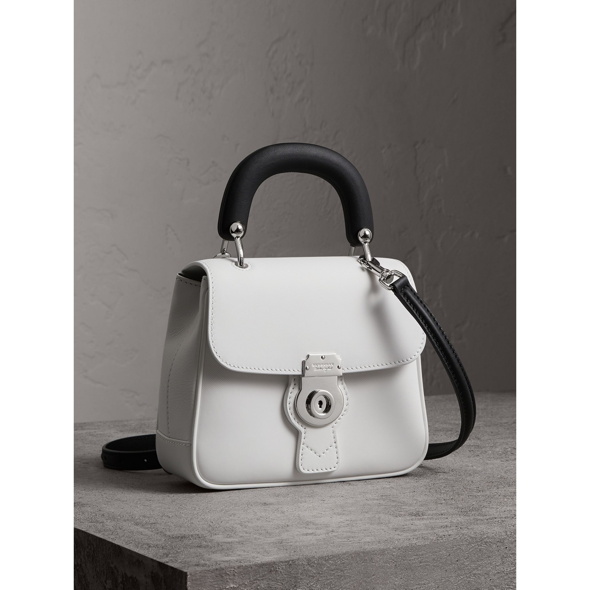 The Small DK88 Top Handle Bag in Chalk White - Women | Burberry United Kingdom - gallery image 7