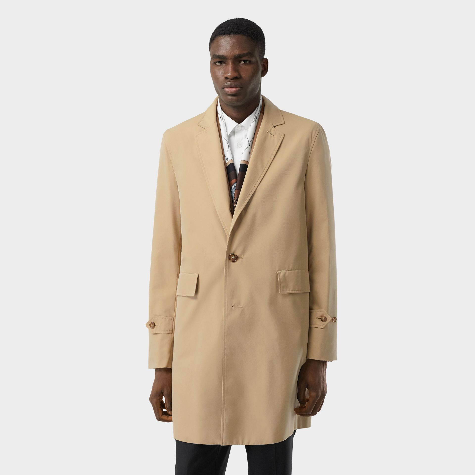 Cotton Gabardine Lab Coat in Honey - Men | Burberry Canada - gallery image 6