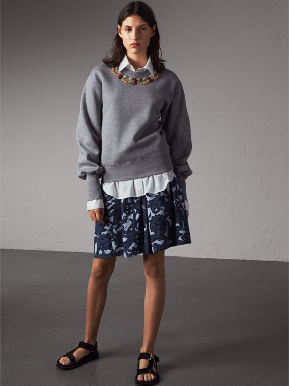 Gem-embellished Jersey Sweatshirt - Women | Burberry - cell image 3