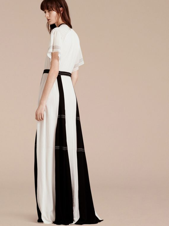 White Floor-Length Silk Dress - cell image 2