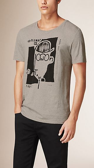 T-shirt en coton avec imprimé Gentleman of London