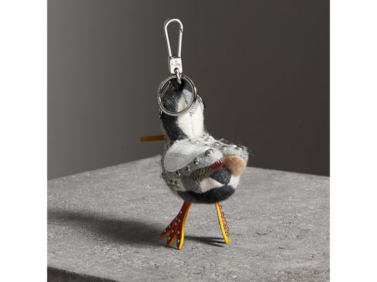 Lawrence The Seagull Cashmere Charm in White Multicolour | Burberry - cell image 1