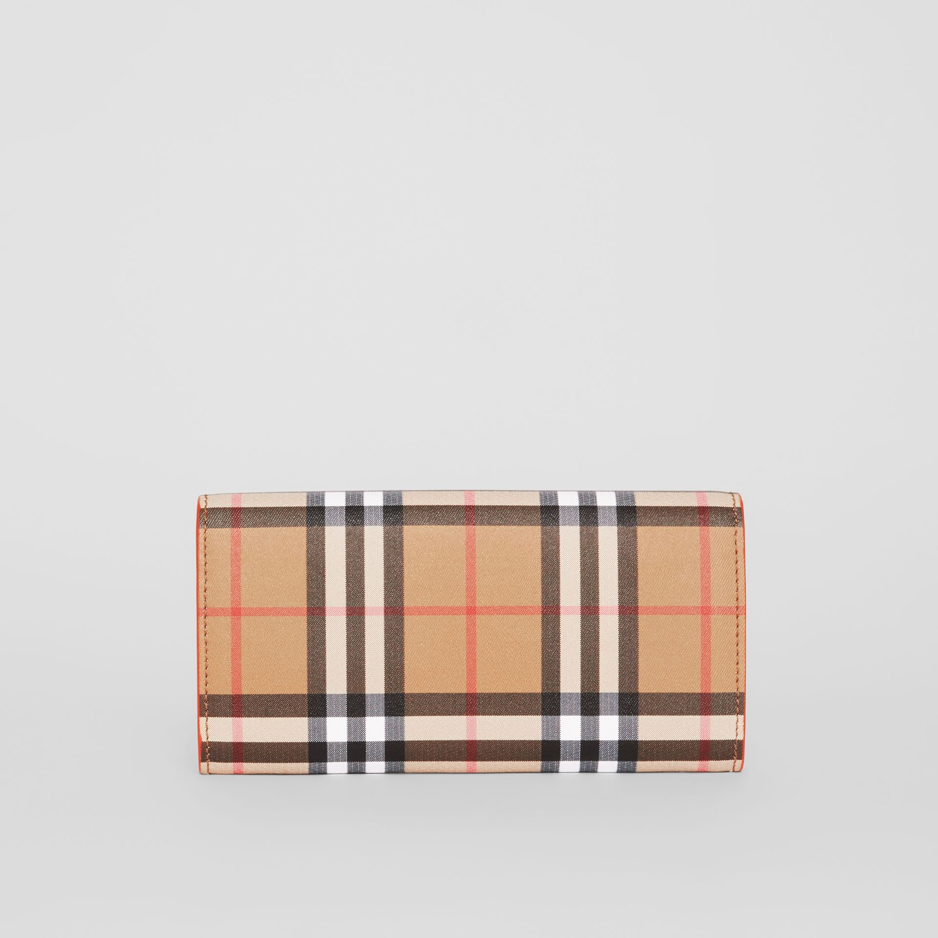 Vintage Check and Leather Continental Wallet in Clementine - Women | Burberry Australia - gallery image 5
