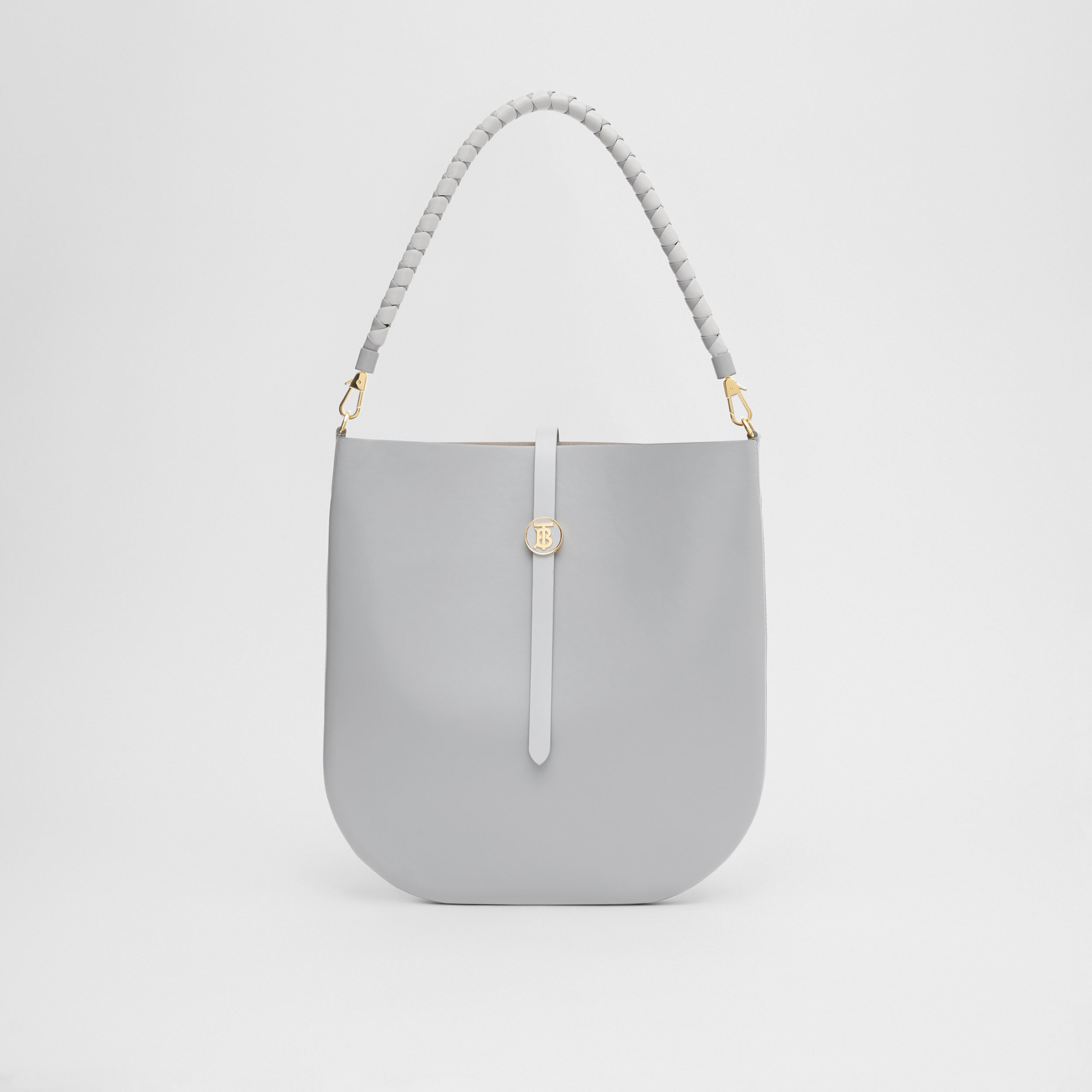 Leather Anne Bag in Cloud Grey - Women | Burberry - 1