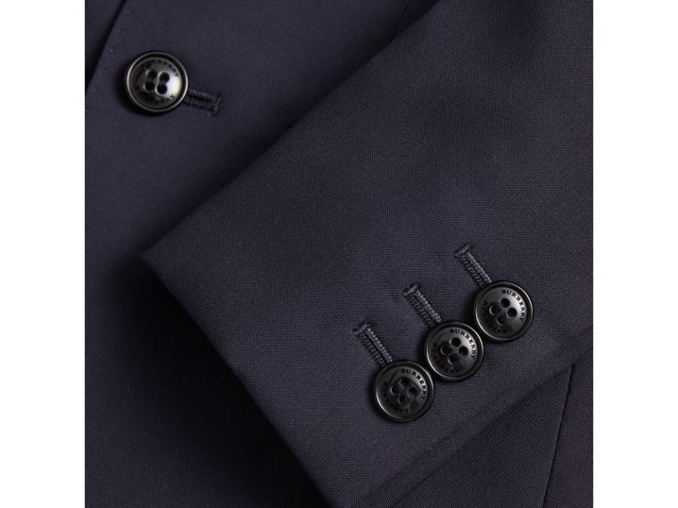 Single-breasted Wool Blazer in Navy - Boy | Burberry - cell image 1