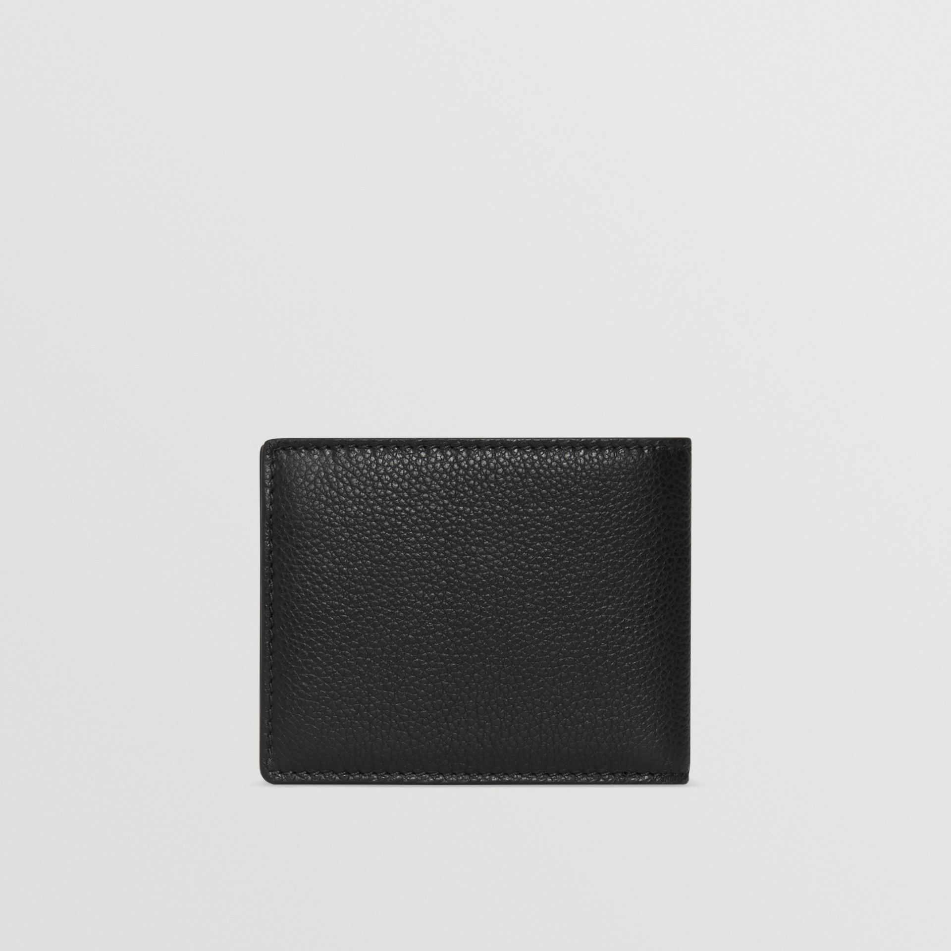 Grainy Leather Bifold Wallet in Black - Men | Burberry Australia - gallery image 4