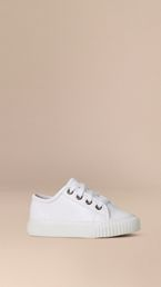 Leather Lace-Up Trainers