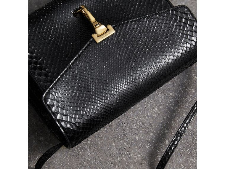 Small Python Crossbody Bag in Black - Women | Burberry - cell image 4