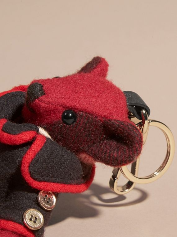 Parade red Thomas Bear Charm in Wool Cashmere Military Coat - cell image 3