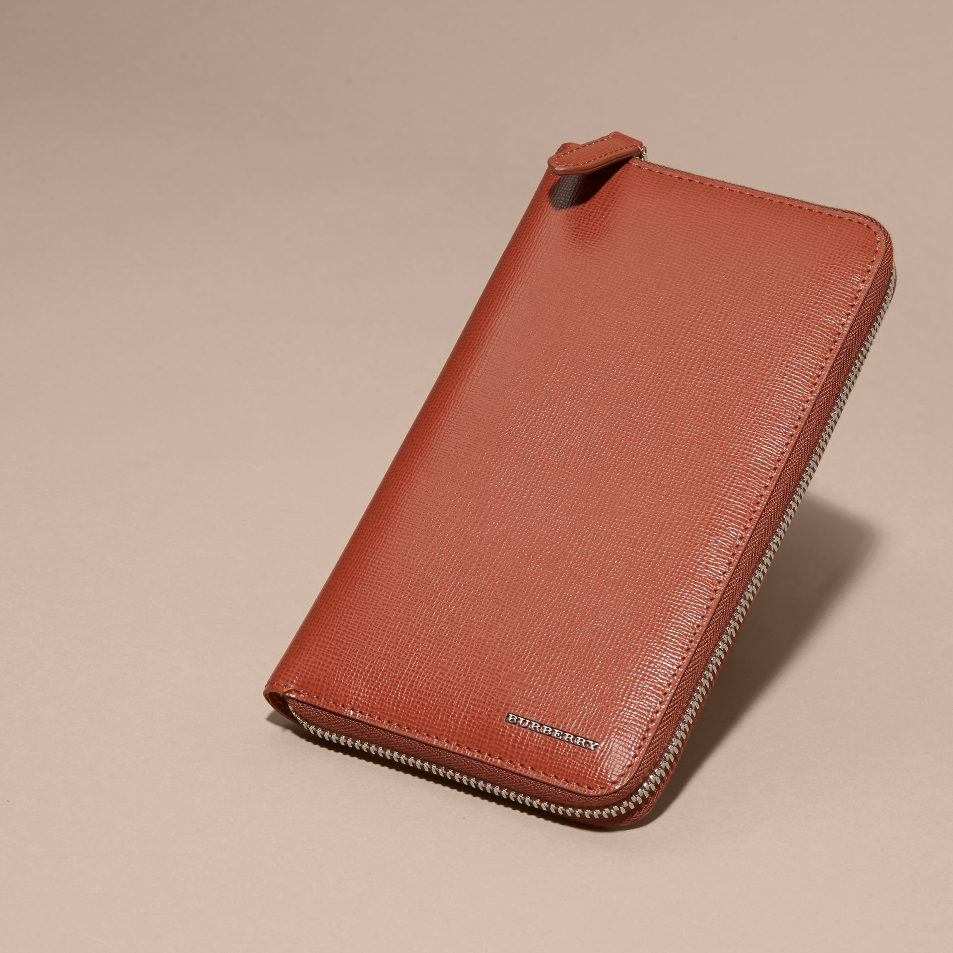 London Leather Ziparound Wallet Burnt Sienna - gallery image 5
