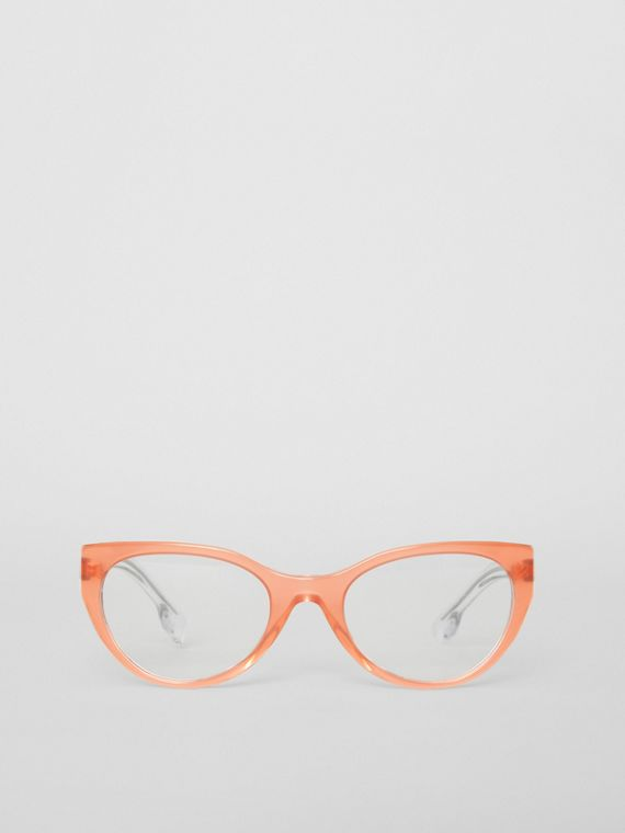 Cat-eye Optical Frames in Peach